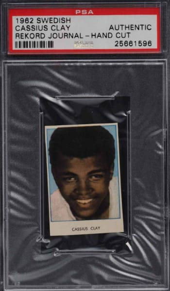 1962 Swedish Cassius Clay Rekord Journal card