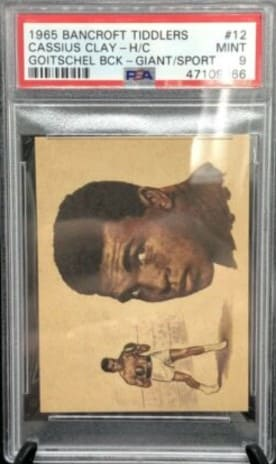 1965 Bancroft Tiddlers Cassius Clay #12