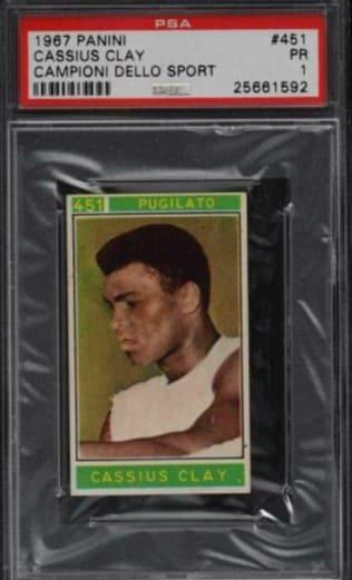1967 Panini Cassius Clay Campioni Dello Sport #451