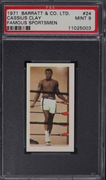 1971 Barrat & Co Famous Sportsmen Cassius Clay #24
