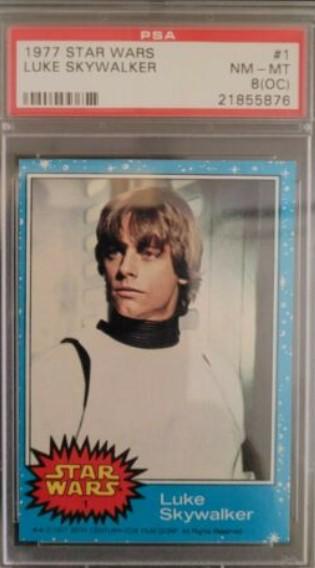 1977 Topps Star Wars Luke Skywalker #1