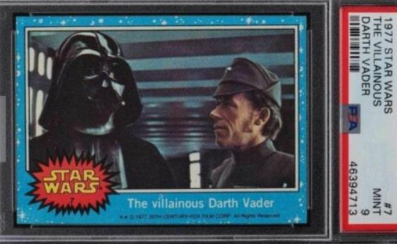 1977 Topps Star Wars Series 1 The Villainous Darth Vader #7