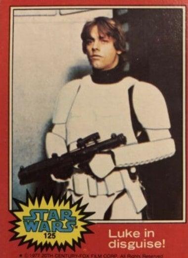 1977 Topps Star Wars Series 2 Luke in Disguise #125