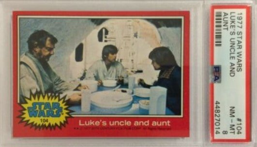 1977 Topps Star Wars Series 2 Luke's Uncle and Aunt #104