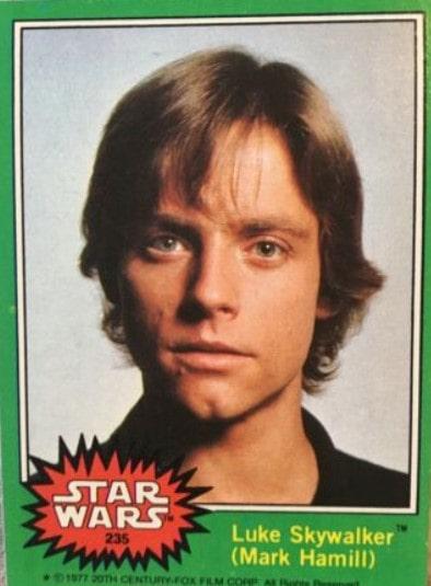 1977 Topps Star Wars Series 4 Luke Skywalker #235