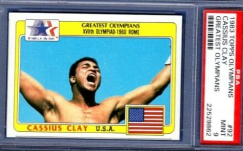 1983 Topps Olympians Cassius Clay card #92