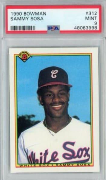 1990 Bowman Sammy Sosa Rookie Card #312 (+ Tiffany)