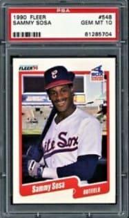 1990 Fleer Sammy Sosa Rookie Card #548