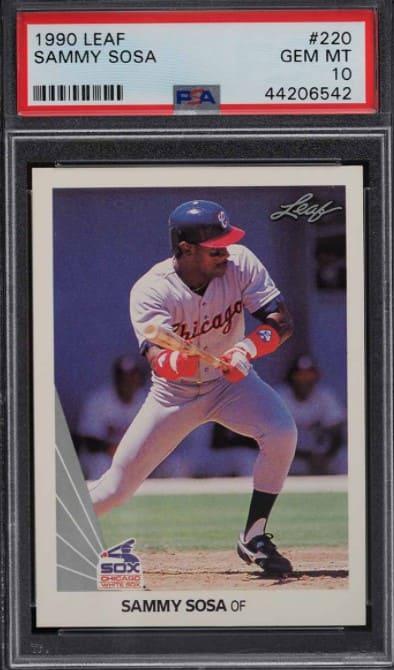 1990 Leaf Sammy Sosa Rookie Card #220