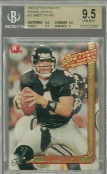 1991 Action Packed Brett Favre RC #21