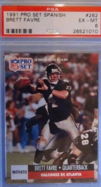 1991 Pro Set Brett Favre Rookie Card #762