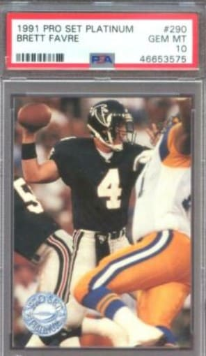 1991 Pro Set Platinum Brett Favre RC #290