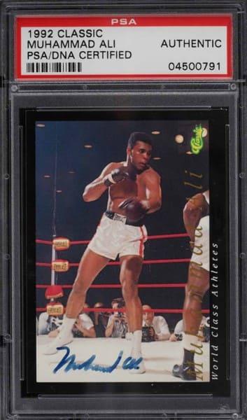 1992 Classic Muhammad Ali Auto