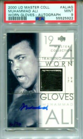 2000 UD Master Coll Muhammad Ali Worn Gloves card #Aliag