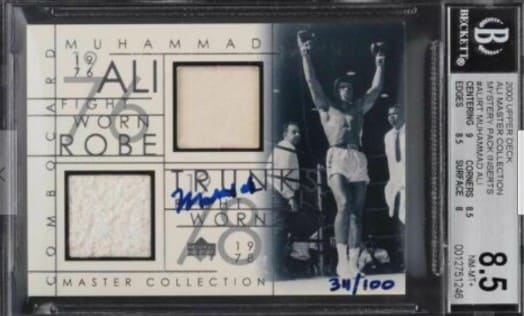 2000 Upper Deck Ali Master Collection card