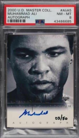 2000 Upper Deck Master Collection Muhammad Ali #AliA5