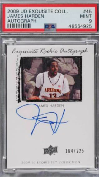 2009 Exquisite Collection James Harden Auto RC #45 and #74