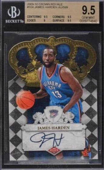 2009 Panini Crown Royale James Harden RC #104