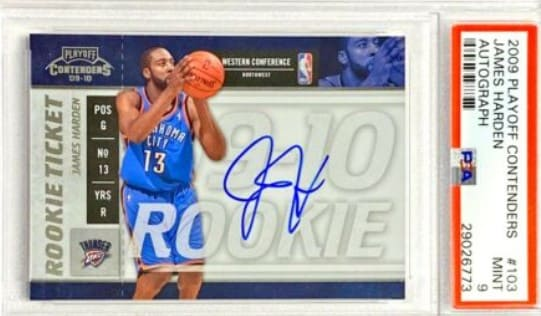 2009 Playoff Contenders Rookie Ticket James Harden RC #103