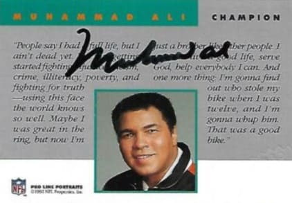 Muhammad Ali and Cassius Clay card