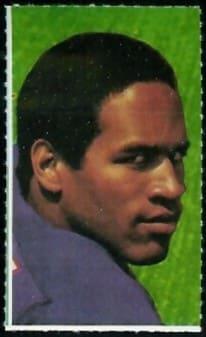 1969 Glendale Stamps O.J. Simpson #48