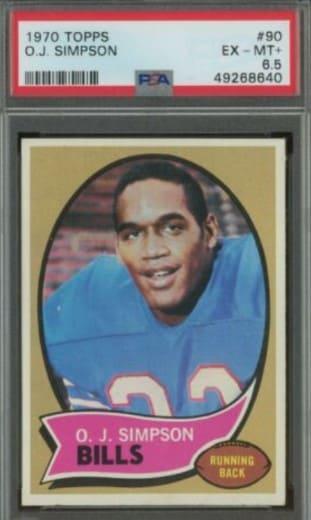 1970 Topps O.J. Simpson Rookie Card #90
