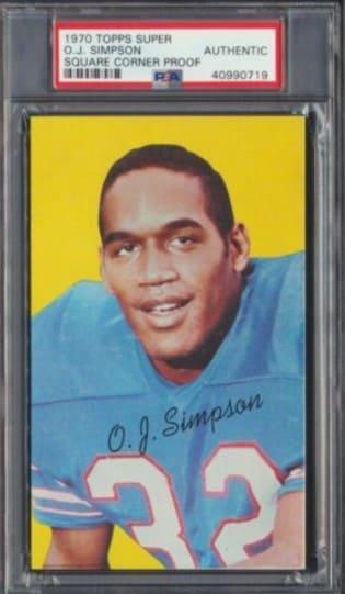 1970 Topps Super OJ Simpson Rookie Card