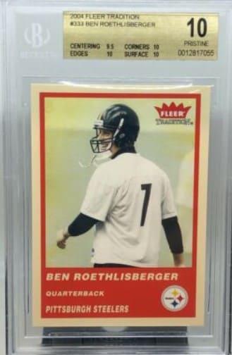 2004 Fleer Tradition Ben Roethlisberger Rookie Card #333