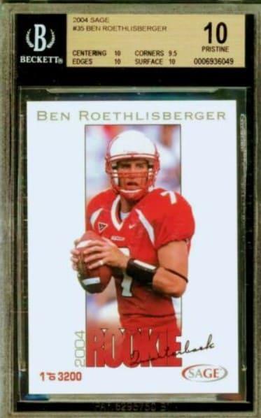 2004 Sage Ben Roethlisberger Rookie Card #35