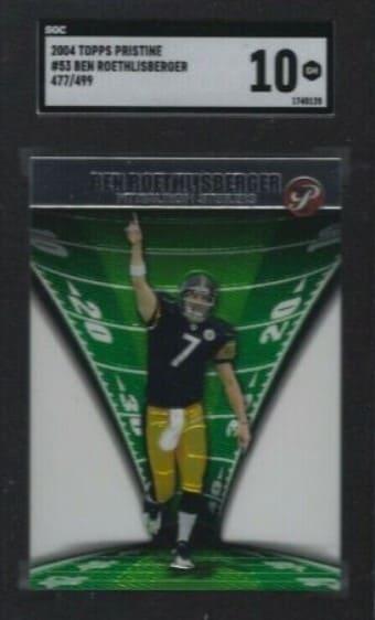2004 Topps Pristine Ben Roethlisberger Rookie Card #51