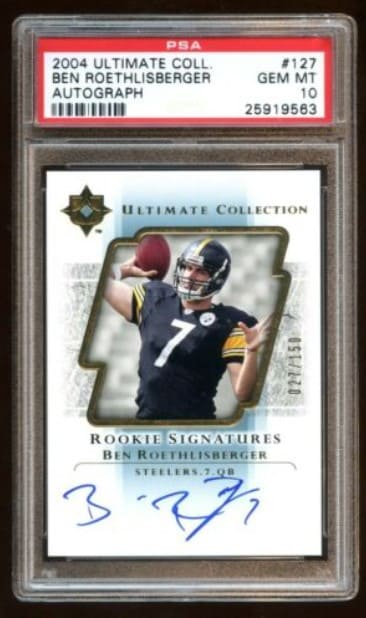 2004 Ultimate Collection Ben Roethlisberger Rookie Card Auto #127