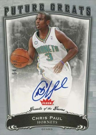 2005 Fleer Greats of the Game Chris Paul Auto RC #113
