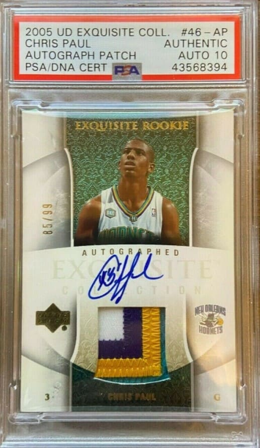 2005 UD Exquisite Collection Chris Paul Auto Jersey RC #46
