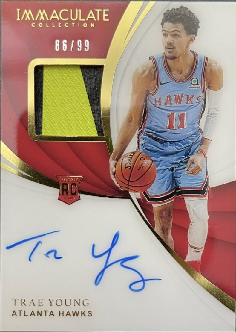 2018 Immaculate Collection Trae Young RC /99