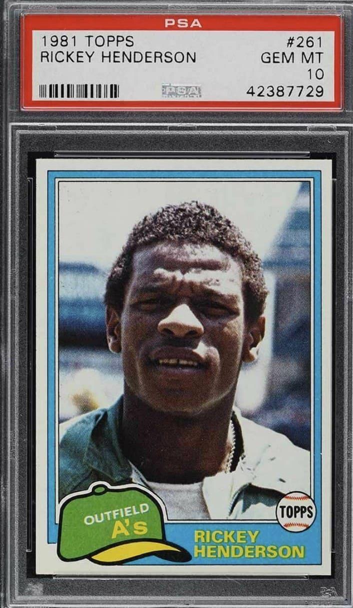 1981 Topps Rickey Henderson #261