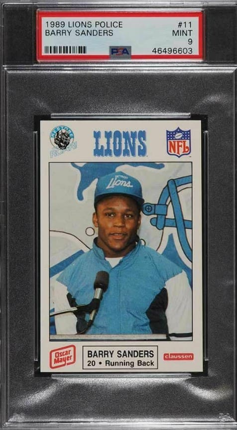 1989 Lions Police Barry Sanders RC #11