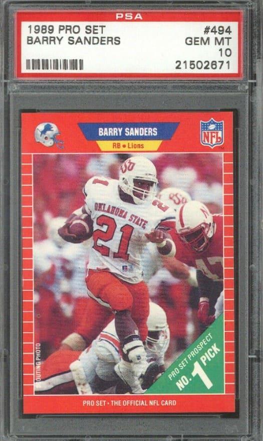 1989 Pro Set Barry Sanders RC #494