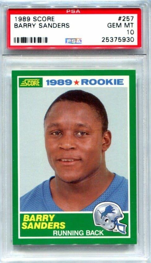1989 Score Barry Sanders RC #257