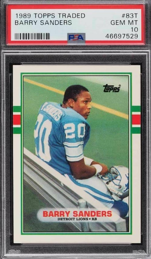 1989 Topps Traded Barry Sanders RC #83T