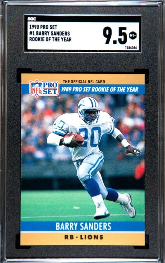 1990 Pro Set Barry Sanders Rookie of the Year #1
