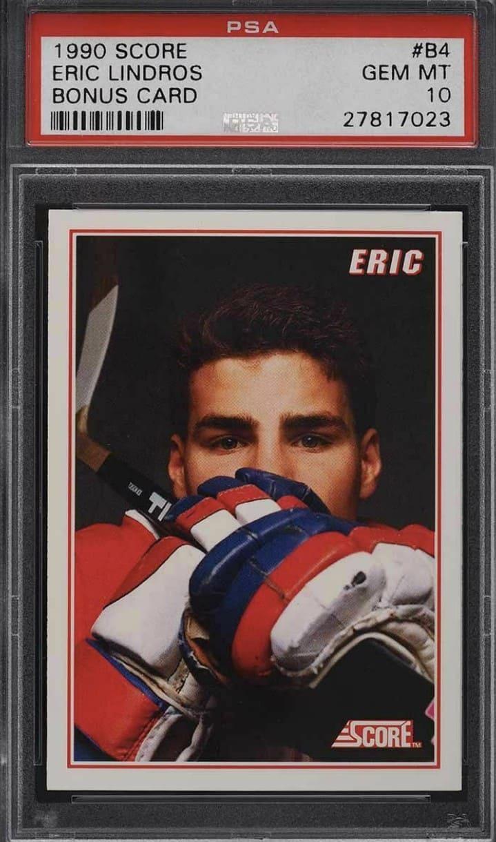 1990 Score Bonus Card Eric Lindros RC #B4