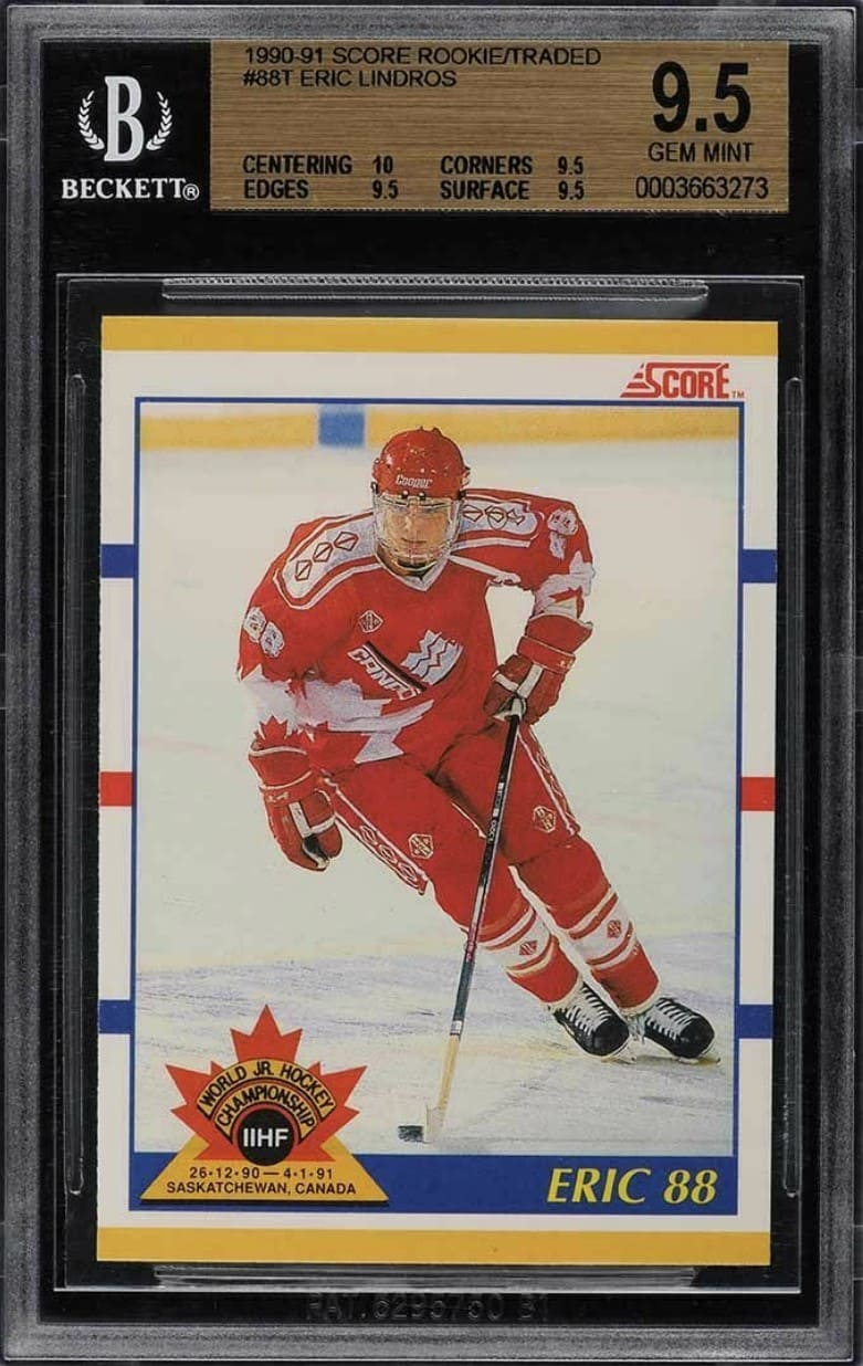 1990 Score Traded Eric Lindros RC #88T