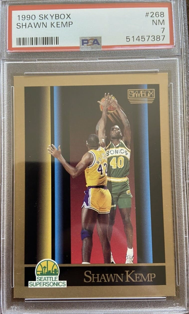 1990 Skybox Shawn Kemp RC #268