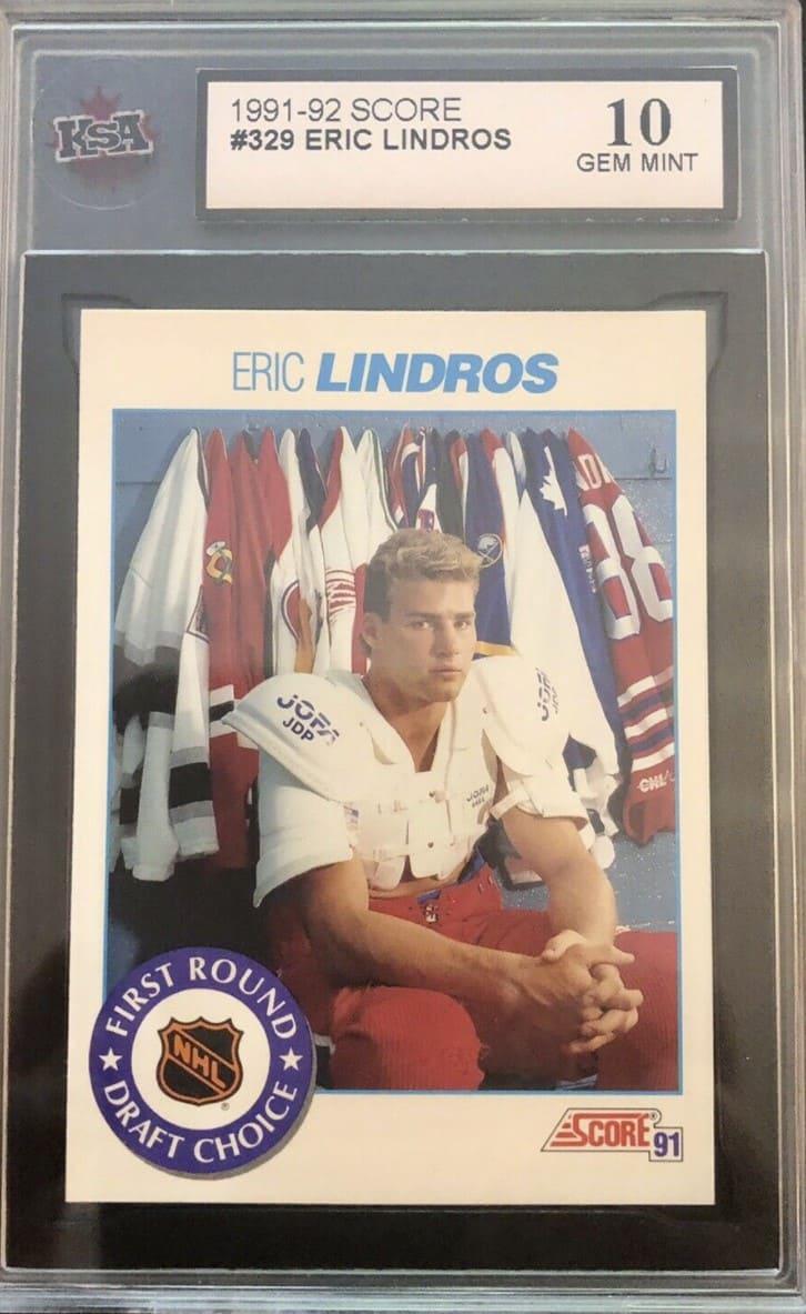 1991/92 Score Eric Lindros #329