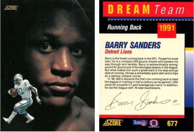 1991 Score Dream Team Barry Sanders Auto #677