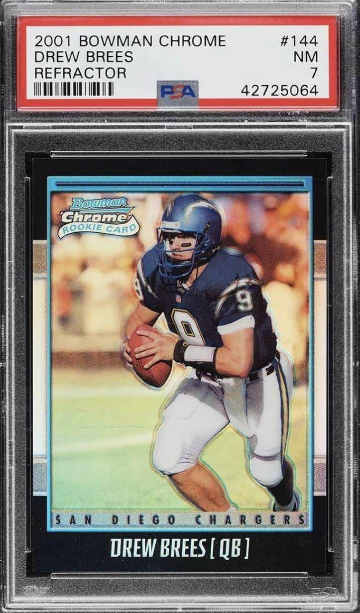 2001 Bowman Chrome Drew Brees RC #144