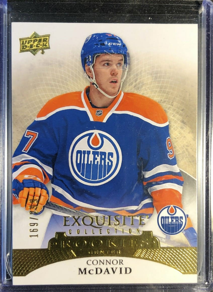 2015 UD Exquisite Collection Connor McDavid RC #R30