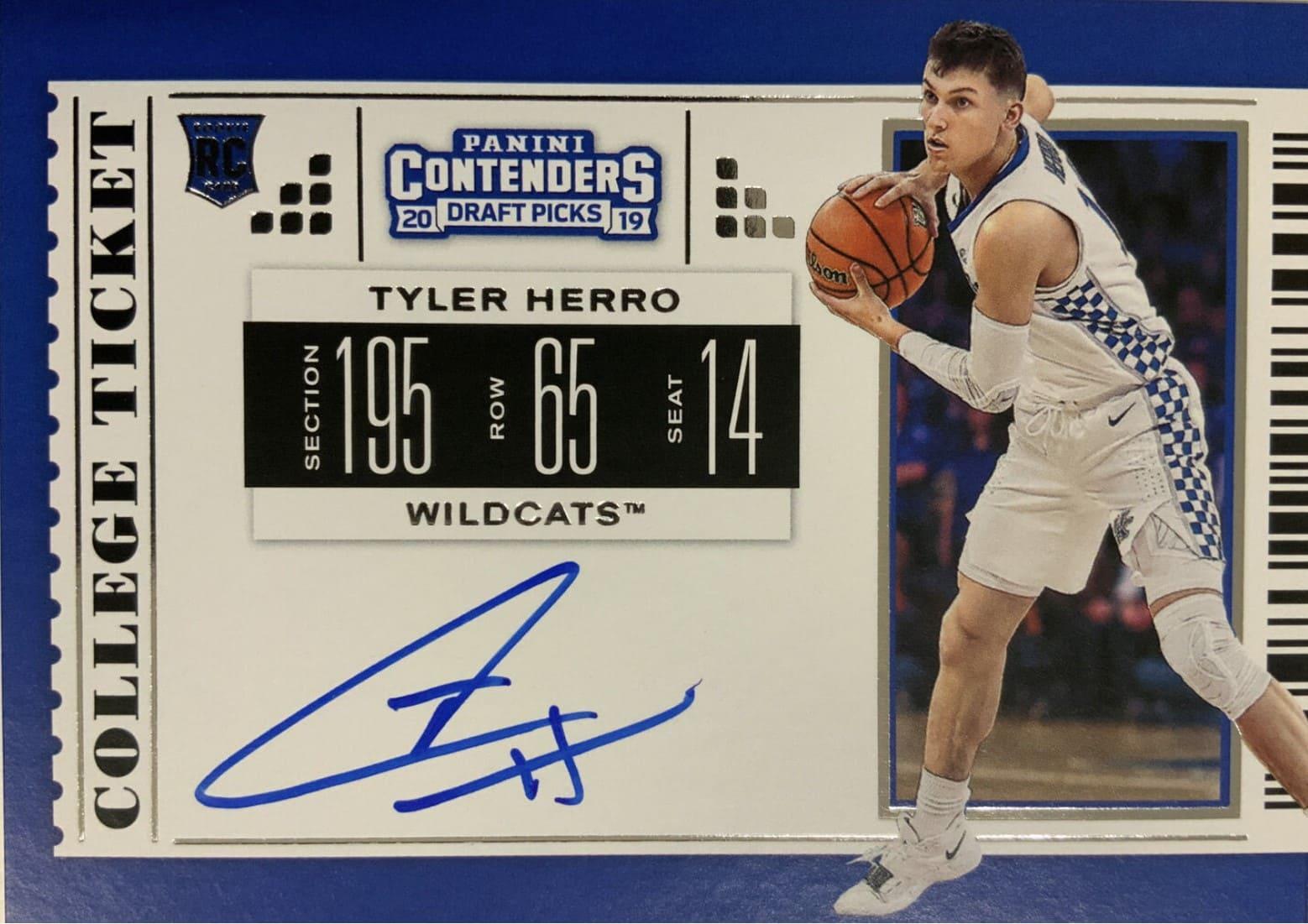 2019 Panini Contenders Draft Picks RC Tyler Herro Auto #69