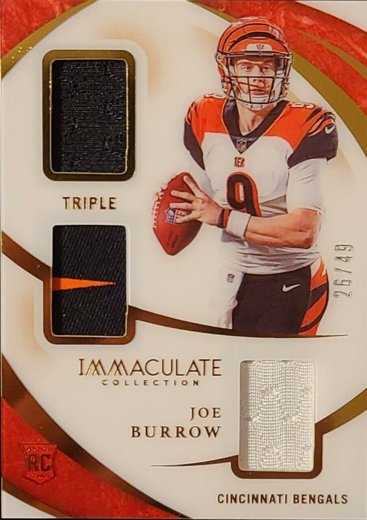 2020 Immaculate Collection Joe Burrow RC Patch