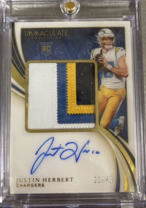 2020 Immaculate Justin Herbert RC Auto Patch